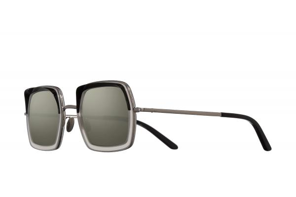 Cutler and Gross 1301-05 BLACK ON WHITE SMOKE SUNGLASSES, Sončna očala